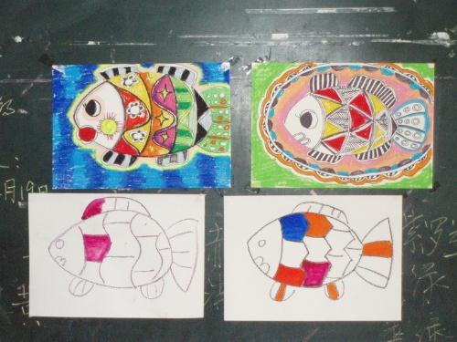 小羊创意水粉画
