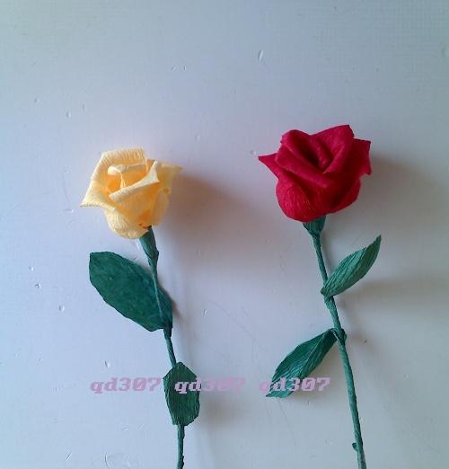 节diy--皱纹纸花; qd307;