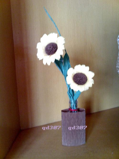 五一劳动节diy--皱纹纸花