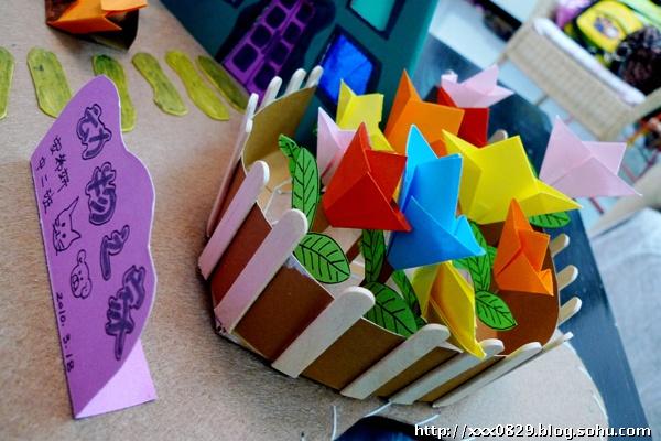 手工折纸立体房子图解