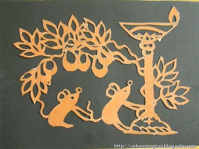 动物拓印简笔画
