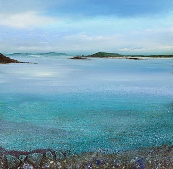 唯美,安静的康沃尔风景油画