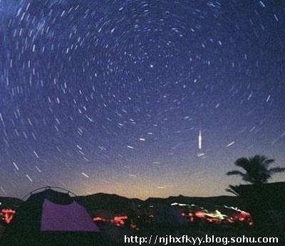 狮子座流星雨   狮子座流星雨在每年的11月14至21日