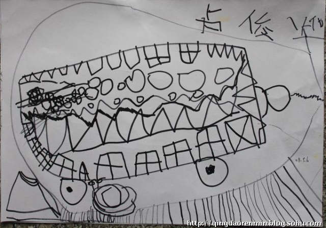 线描写生油菜,玉米,丝瓜-青岛金童话儿童美术画室