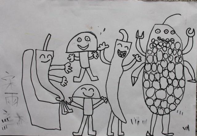 儿童手绘 诚实自信