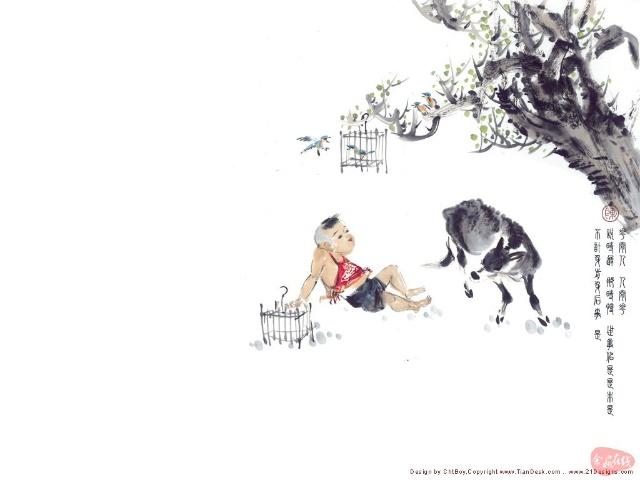 简笔画大全牧童骑黄牛.牧童骑黄牛简笔画.卡通地球儿童简