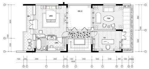 三层平面图 设计主题:梦遇香居 户型:联排别墅