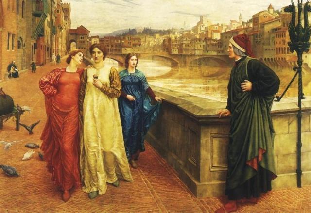 格劳科斯-但丁遇见贝雅特丽齐的地方.   但丁与贝雅特丽齐的相遇,一生之中总共