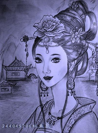 我的铅笔画忆江南