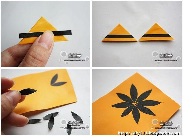 用彩纸做手工制作相框