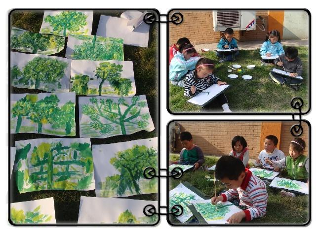 户外写生:树-马钢第一幼儿园-搜狐博客