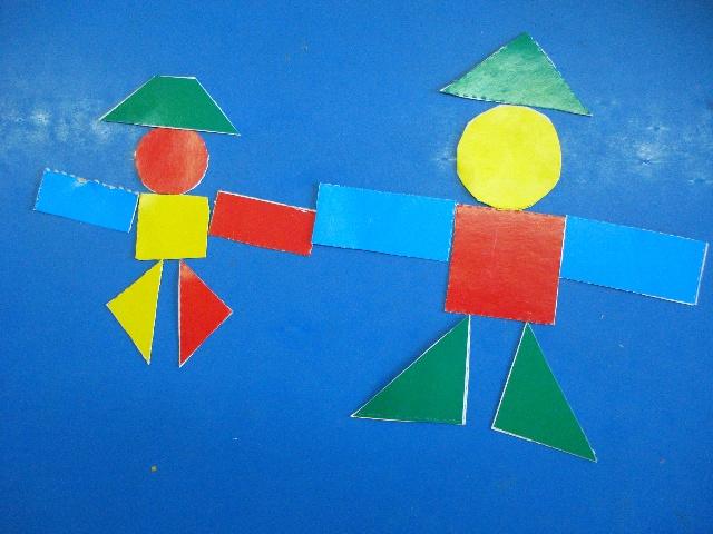 几何图形拼贴画 几何图形手工拼贴画 纸盘拼贴画 手工拼贴画图片大全