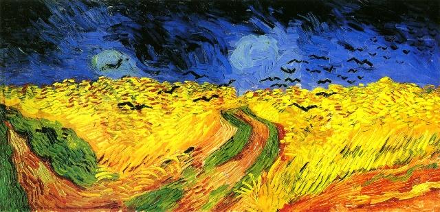 梵高 :乌鸦群飞的麦田