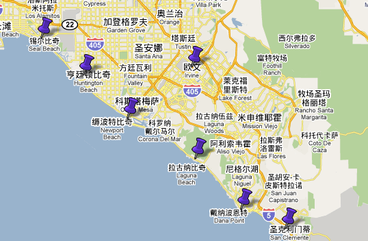美国加州尔湾市地图