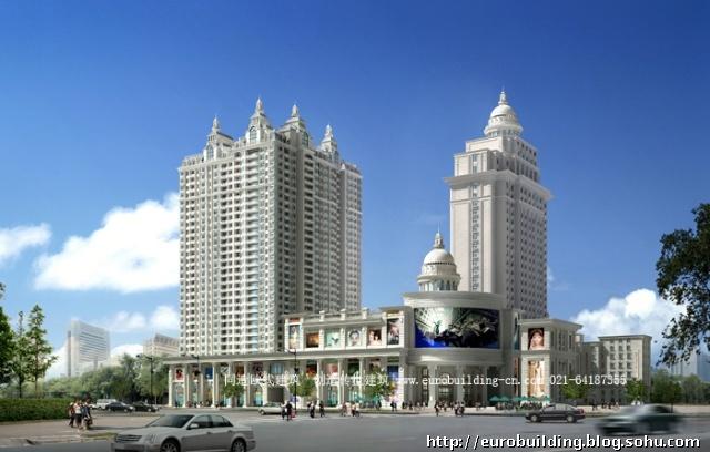 泰和商贸城为主的欧式建筑一条街