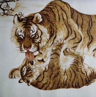 虎铅笔画步骤图解