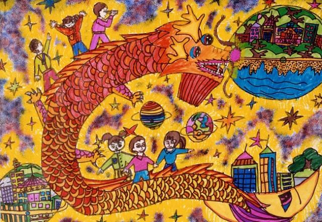 最简单的抗战儿童画_环保儿童插画_第8页_画画大全