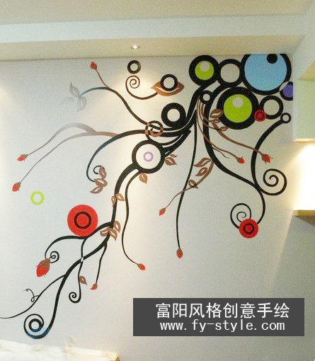 广告店墙体创意手绘