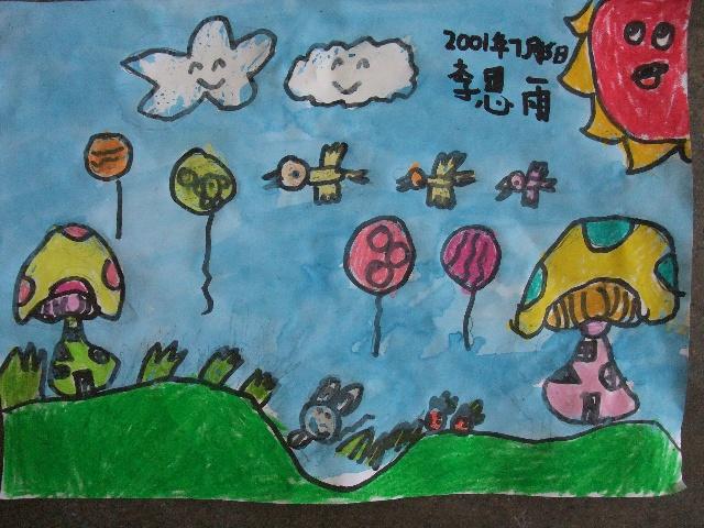 《简笔画—兔子的蘑菇小房》