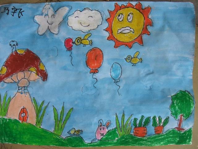 小班作品——《简笔画—小熊猫-2010年8月6日上午小班作品 卡通简