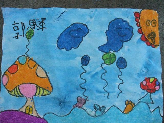小班作品——《简笔画—小熊猫-2010年8月20日上午小班作品 卡通简