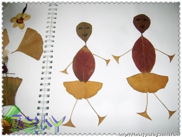 用银杏叶做贴画图案