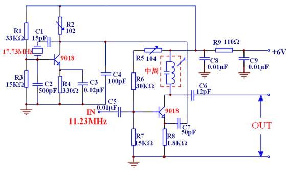 无线调频话筒参考电路            实验五 变容二极管