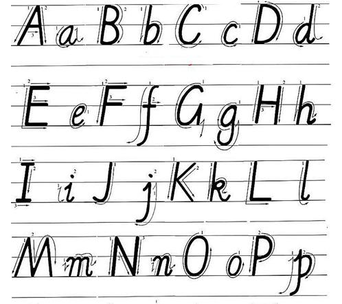 小�:�9�k�f_英语字母书写提示-满天都是小星星-搜狐博客
