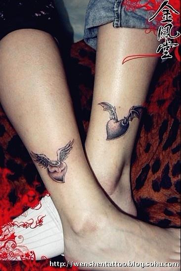 心电图纹身 扑克牌纹身 骰子纹身图 六字真言文身 情侣刺青图 立体图片