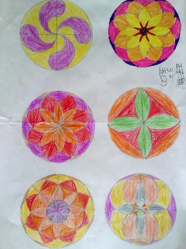 圆规画出来的图案内容|圆规画出来的图案图片