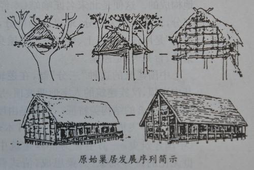 手绘江南房屋图片